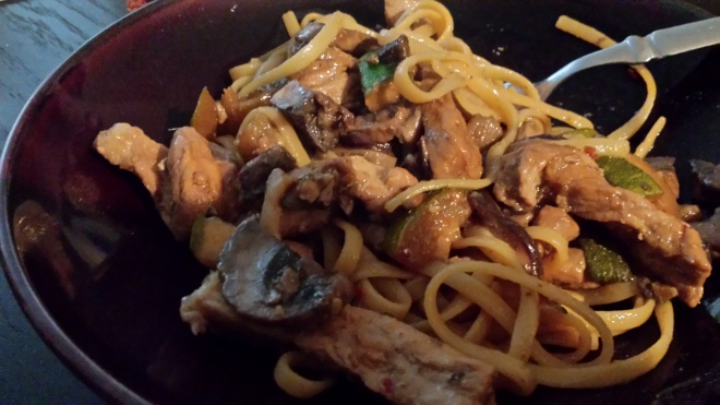 My exciting foray into Pork Lomein. Husband is jealous it turned out so good!